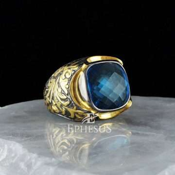 Gold and Blue Ring